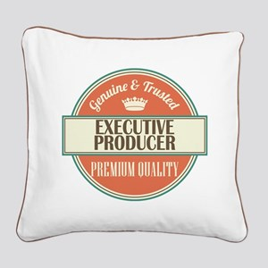 executive producer vintage lo Square Canvas Pillow