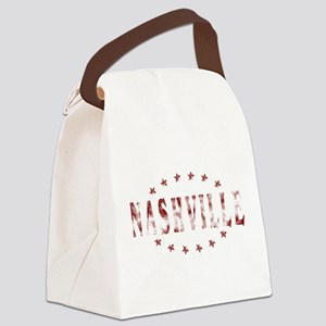 Nashville Distressed-01 Canvas Lunch Bag