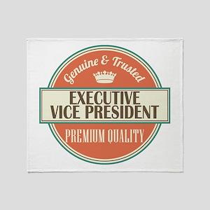 executive vice president vintage log Throw Blanket
