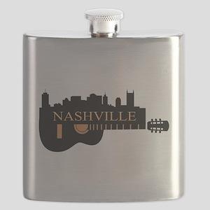 Nashville Guitar Skyline-05 Flask
