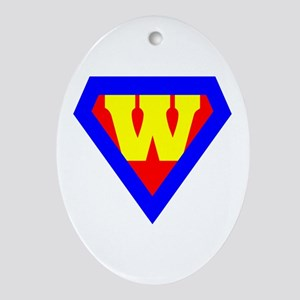 Wonder Woman Oval Ornament