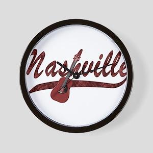 Nashville Guitar-07 Wall Clock