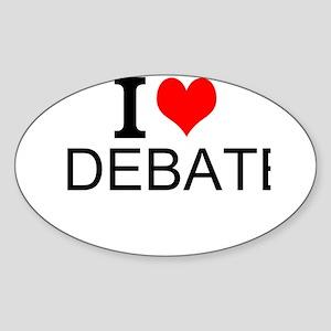 I Love Debate Sticker