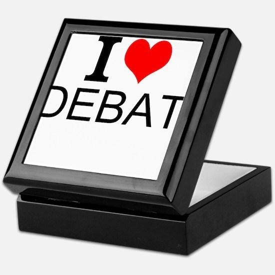 I Love Debate Keepsake Box