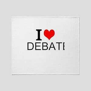 I Love Debate Throw Blanket