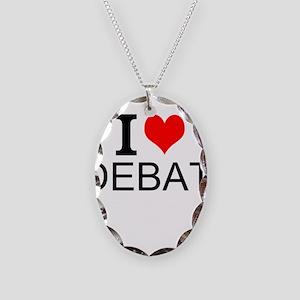 I Love Debate Necklace