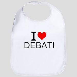 I Love Debate Bib