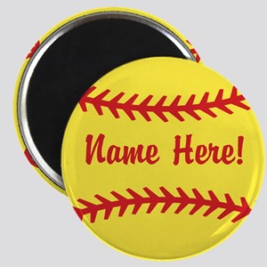 Softball Laces Personalized Magnets