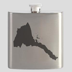 Eritrea Silhouette Flask