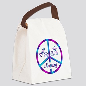 Peace Love Nursing Canvas Lunch Bag