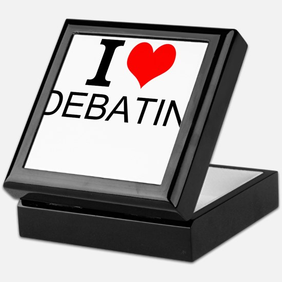 I Love Debating Keepsake Box