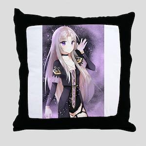 Beautiful anime girl small Throw Pillow