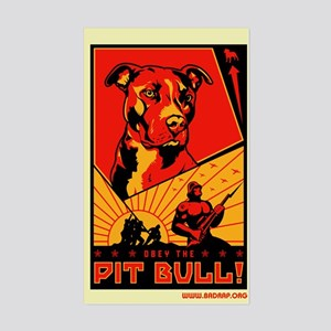 Obey the Pit Bull! Rectangle Sticker