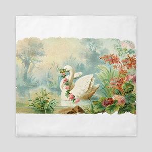 Swan Bird Queen Duvet