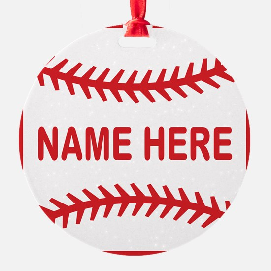 Baseball Laces Personalzied Name Ornament