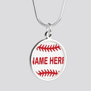 Baseball Laces Personalzied Name Necklaces