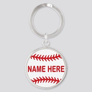 Baseball Laces Personalzied Name Keychains