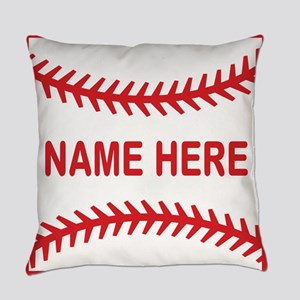 Baseball Laces Personalzied Name Everyday Pillow