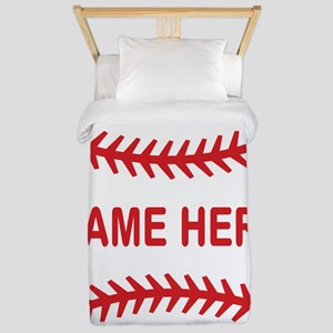Baseball Laces Personalzied Name Twin Duvet