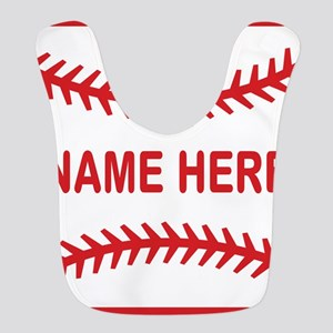 Baseball Laces Personalzied Name Bib
