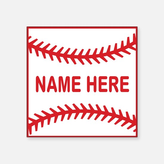 Baseball Laces Personalzied Name Sticker
