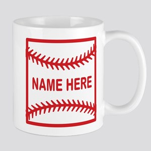 Baseball Laces Personalzied Name Mugs