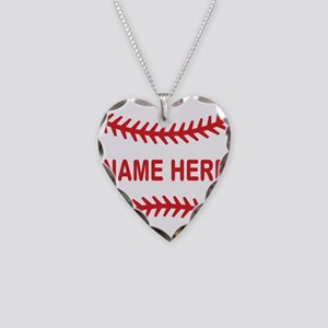 Baseball Laces Personalzied Name Necklace