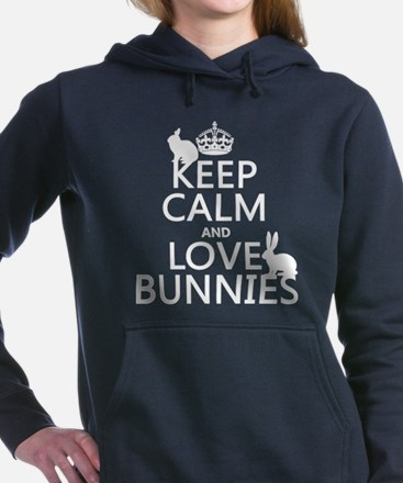 Funny Bunny Women's Hooded Sweatshirt