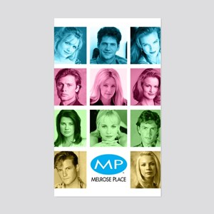 Melrose Place Cast Sticker (Rectangle)