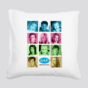 Melrose Place Cast Square Canvas Pillow