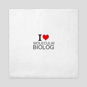 I Love Molecular Biology Queen Duvet