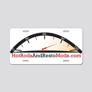 Hot Rod logo Aluminum License Plate