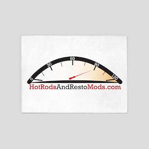 Hot Rod logo 5'x7'Area Rug