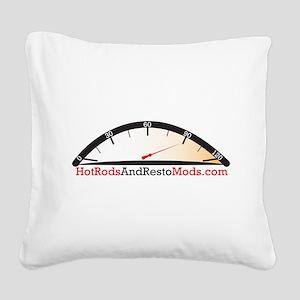 Hot Rod logo Square Canvas Pillow