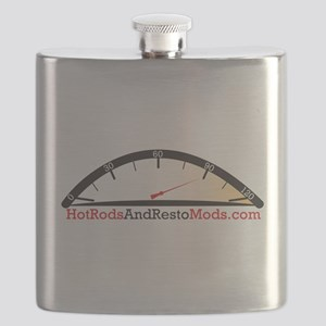 Hot Rod logo Flask