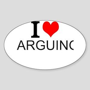 I Love Arguing Sticker