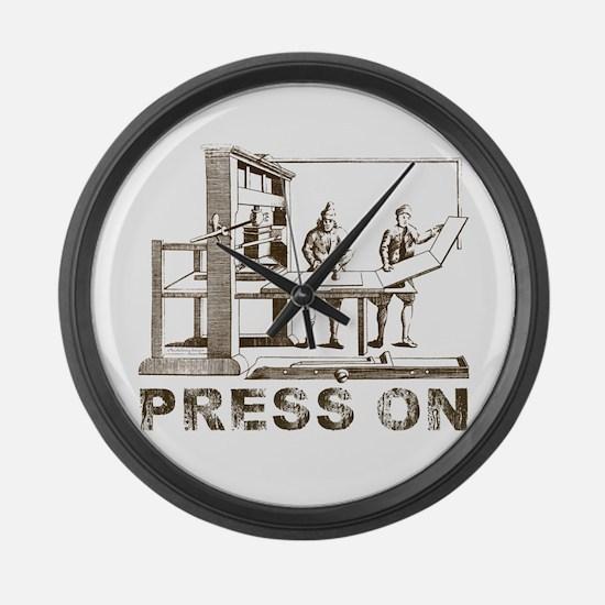 Press On Large Wall Clock
