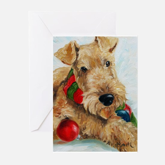 Cute Airedale terrier Greeting Cards (Pk of 20)