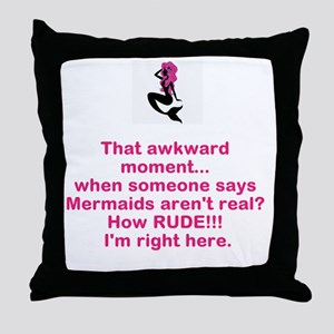 Mermaid Silhouette Throw Pillow