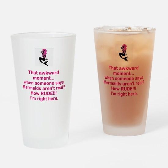 Mermaid Silhouette Drinking Glass