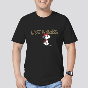 Peanuts Snoopy Like A Men's Fitted T-Shirt (dark)
