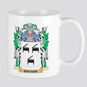 Hanson Coat of Arms (Family Crest) Mugs