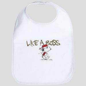 Peanuts Snoopy Like A Boss Bib