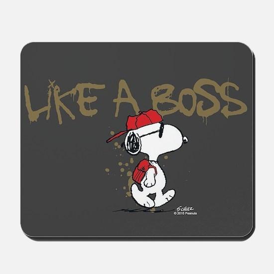 Peanuts Snoopy Like A Boss Mousepad