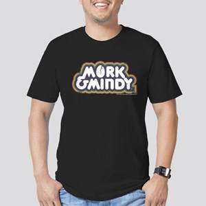 Mork and Mindy Logo Men's Fitted T-Shirt (dark)