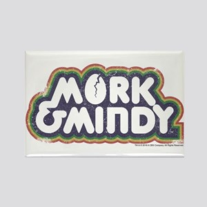 Mork and Mindy Logo Rectangle Magnet