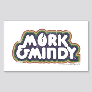 Mork and Mindy Logo Sticker (Rectangle)