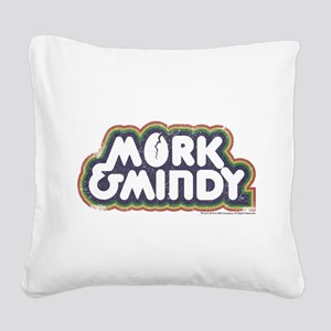 Mork and Mindy Logo Square Canvas Pillow