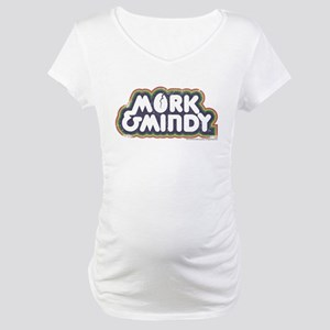 Mork and Mindy Logo Maternity T-Shirt