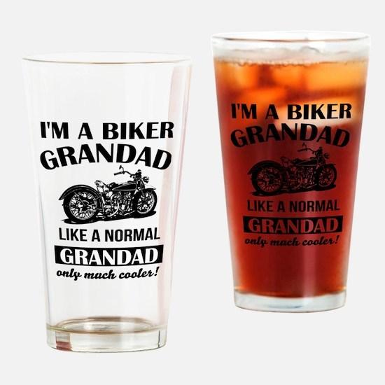 Funny Biker Drinking Glass